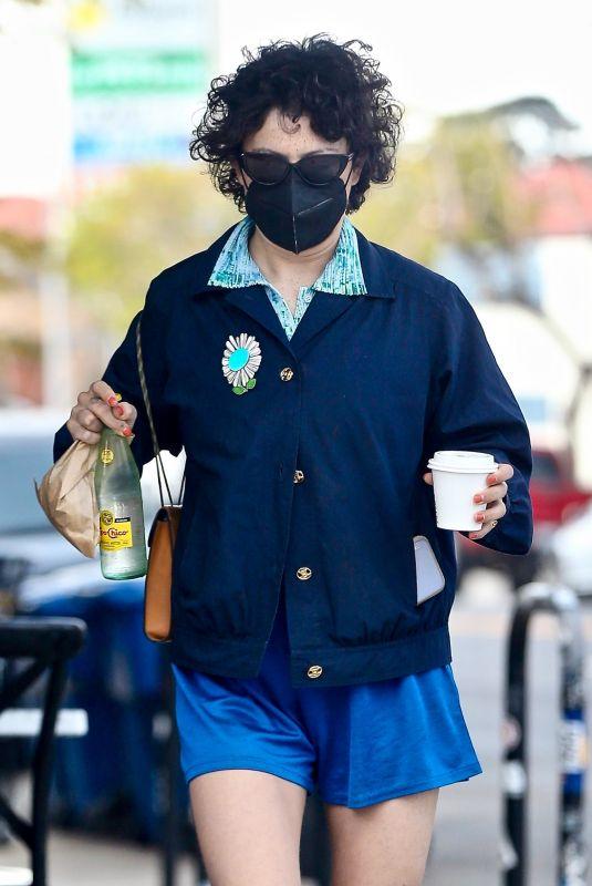 ALIA SHAWKAT Out for Coffee in Los Feliz 04/15/2021