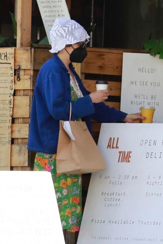 ALIA SHAWKAT Out for Lunch in Los Feliz 04/10/2021