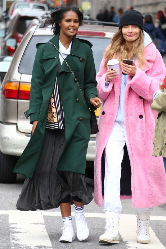 ALINA BAIKOVA and UBAH HASSAN Out in New York 04/16/2021