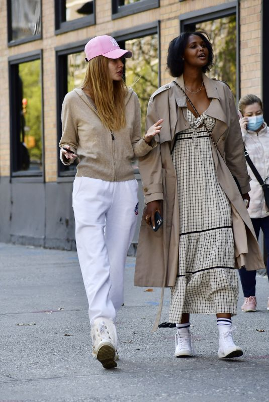 ALINA BAIKOVA and UBAH HASSAN Out in New York 04/20/2021