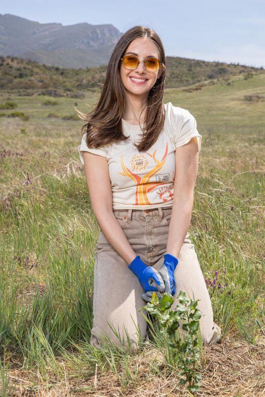 ALISON BRIE Planting a Tree in Malibu 04/15/2021