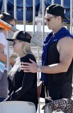 ALLI SIMPSON with Boyfriend Mitch watch Cody Simpson Race 04/18/2021