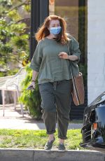 ALYSON HANNIGAN Leaves a Salon in Beverly Hills 04/15/2021