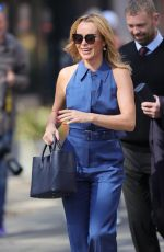 AMANDA HOLDEN in a Blue Jumpsuit Out in London 04/20/2021