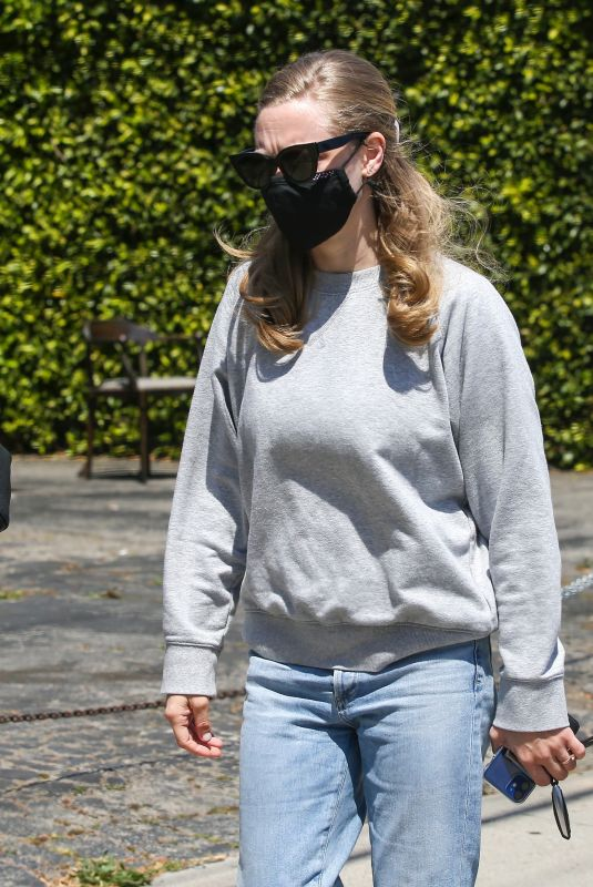 AMANDA SEYFRIED at Gracias Madre in West Hollywood 04/27/2021