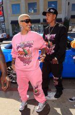 AMBER ROSE Arrives at a Pop-up Shop in Los Angeles 04/16/2021