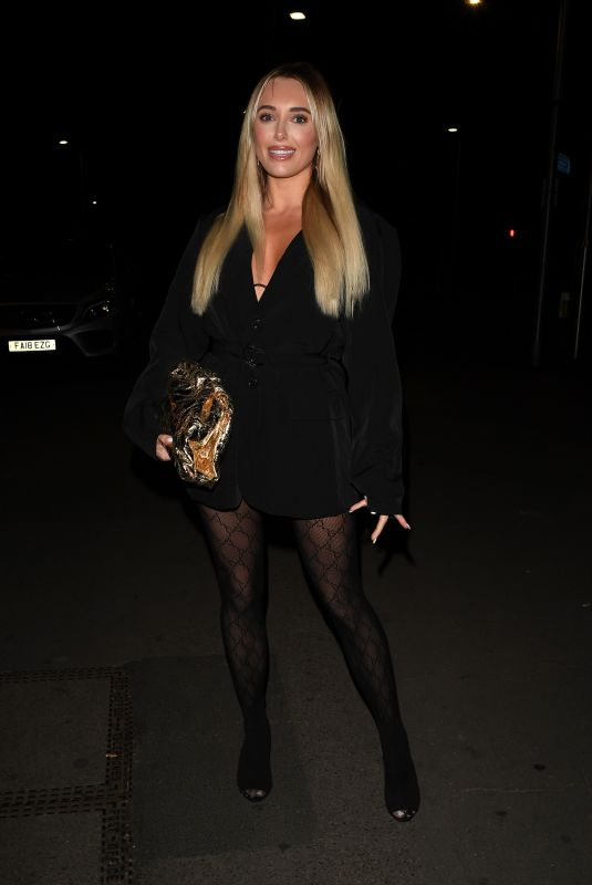 AMBER TURNER on the Set of The Only Way is Essex 01/14/2021