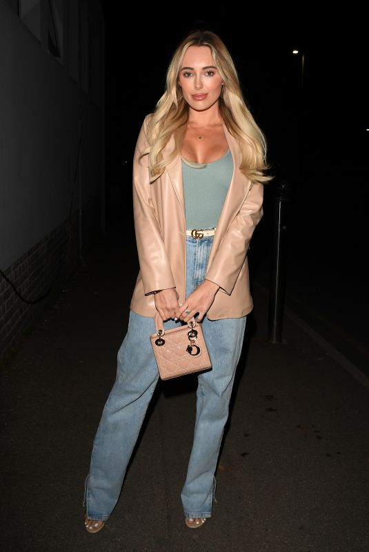 AMBER TURNER on the Set of The Only Way is Essex 04/04/2021