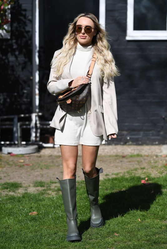 AMBER TURNER on the Set of The Only Way is Essex 04/06/2021