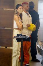AMELIA HAMLIN and Scott Disick at Meche Salon in Beverly Hills 04/20/2021