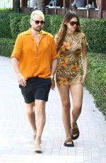 AMELIA HAMLIN and Scott Disick Out in Miami 04/07/2021