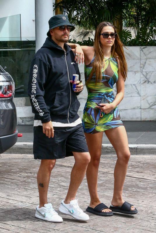 AMELIA HAMLIN and Scott Disick Out in Miami Beach 04/06/2021