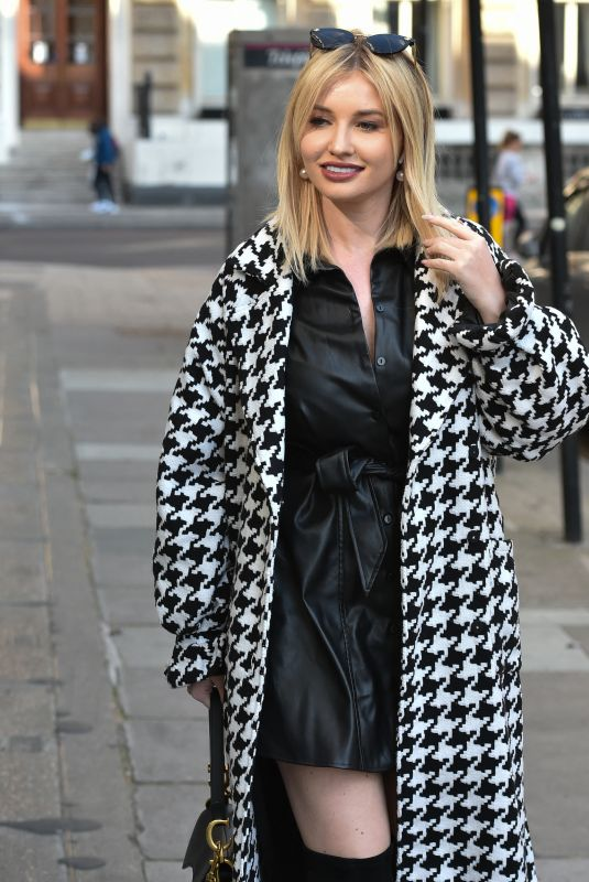 AMY HART Out for Lunch in London 04/25/2021