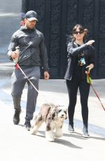 ANA DE ARMAS Out with Her Dog in Los Angeles 04/12/2021