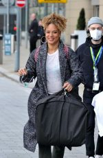 ANGELA GRIFFIN Leaves at TV Studios in Manchester 04/04/2021