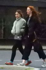 ANNA ERMAKOVA Out with Friend in London 04/10/2021