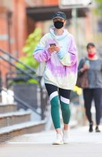 ANNE VYALITSYNA Heading to a Gym in New York 04/21/2021