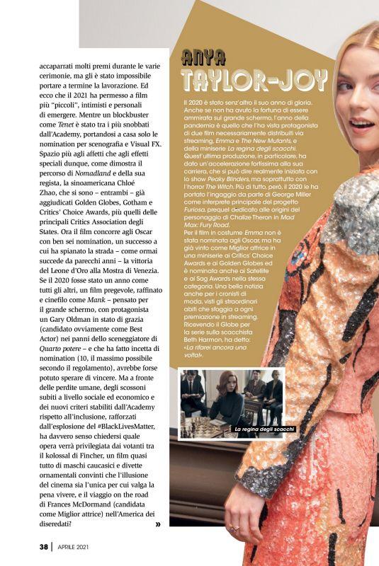 ANYA TAYLOR-JOY in Best Movie Magazine, April 2021