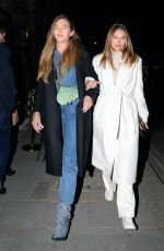 ARABELLA CHI and LORNA FLORENCE Night Out in London 04/14/22021