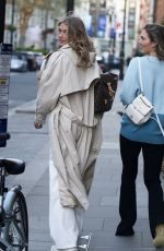 ARABELLA CHI Out with a Friend in Mayfair 04/22/2021