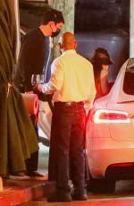 ARIANA GRANDE and Dalton Gomez Night Out in Los Angeles 04/15/2021