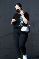 ASHLEY GRAHAM Leaves a Gym in Los Angeles 04/15/2021