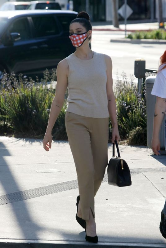 ASHLEY GREENE Leaves a Business Meeting in West Hollywood 04/01/2021