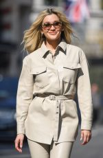 ASHLEY ROBERTS Arrives at Global Radio in London 04/30/2021