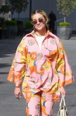 ASHLEY ROBERTS Arrives at Heart Radio in London 04/27/2021