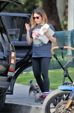 ASHLEY TISDALE and Christopher French Out with Their Dogs in Los Feliz 04/07/2021