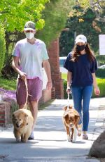 AUBREY PLAZA and Jeff Baena Out with Her Dogs in Los Feliz 04/10/2021
