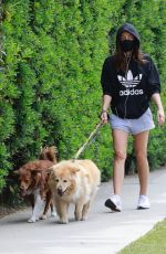 AUBREY PLAZA Out with Her Dogs in Los Feliz 04/11/2021