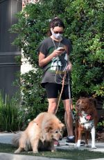 AUBREY PLAZA Out with Her Dogs in Los Feliz 04/20/2021