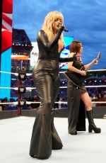 BEBE REXHA Performs at Wrestlemania 37 in Tampa 04/10/2021