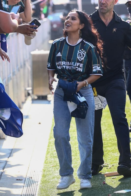 BECKY G at Inter Miami vs L.A. Galaxy Game in Fort Lauderdale 04/18/2021