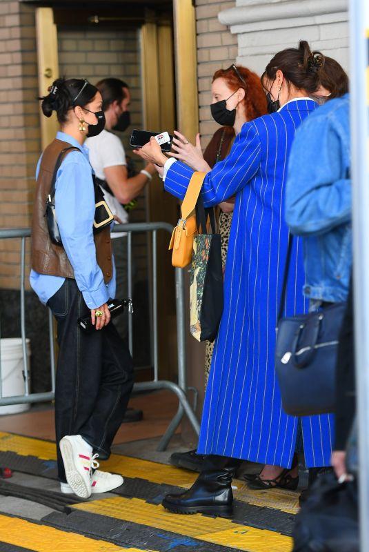 BELLA HADID, IRINA SHAYK and HELENA CHRISTENSEN Arrives at Michael Kors Fashion Show in New York 04/08/2021