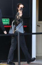 BELLA HADID Leaves Her Hotel in Milan 04/14/2021