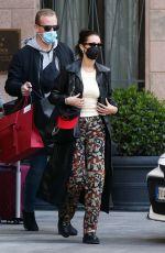 BELLA HADID Leaves Her Hotel in Milan 04/15/2021