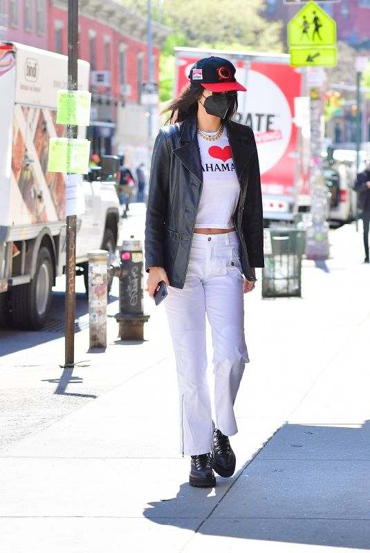 BELLA HADID Out Shopping for Gigi's Birthday in New York 04/23/2021