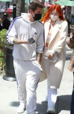 BELLA THORNE at IL pastaio in Beverly Hills 04/16/2021