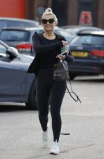 BILLIE FAIERS and DANIELLE ARMSTRONG Leaves Absolute Gym in Brentwood 04/16/2021