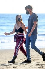 BILLIE LOURD and Austen Rydell Out in Santa Barbara 04/14/2021