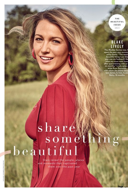 BLAKE LIVELY in People Magazine, Beautiful Issue 2021