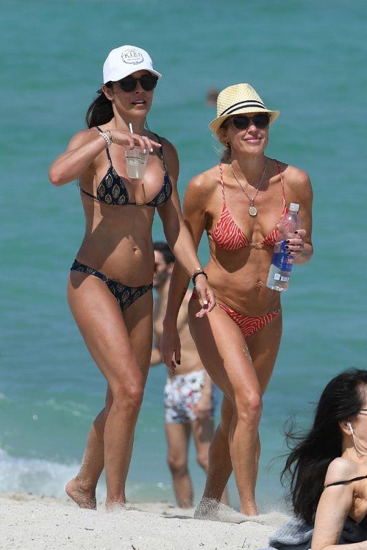 BRAUNWYN WINDHAM-BURKE and FERNANDA ROCHA in Bikinis at a Beach in Miami 04/18/2021
