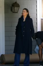BRIDGET MOYNAHAN and VANESSA RAY on the Set of Blue Bloods in Brooklyn 04/06/2021
