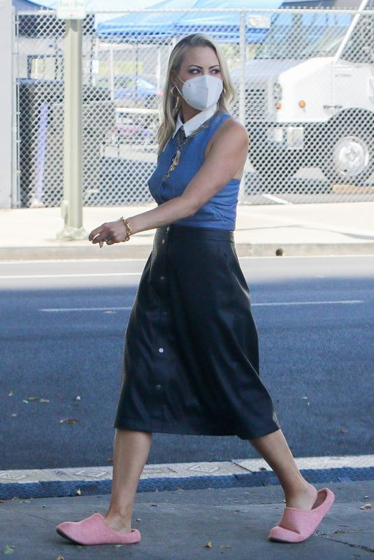 BRITTANY DANIEL on the Set of Cheaper by the Dozen in Los Angeles 04/20/2021