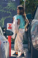 BROOKE BURKE Arrives at Habana Cafe in Malibu 04/16/2021