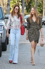 BROOKE BURKE Out with a Friend in Beverly Hills 03/31/2021