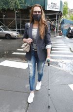 BROOKE SHIELD Out and About in New York 04/21/2021