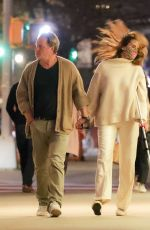 BROOKE SHIELDS and Chris Henchy Out for Dinner in New York 04/11/2021